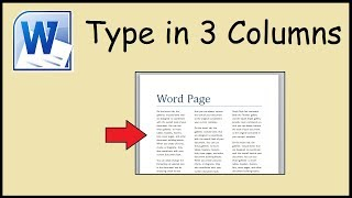 How to type in 3 columns Word