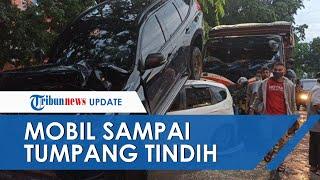 Kronologi Kecelakaan Beruntun di Medan yang Melibatkan 5 Kendaraan, Mobil Putih Remuk Ditimpa Pajero