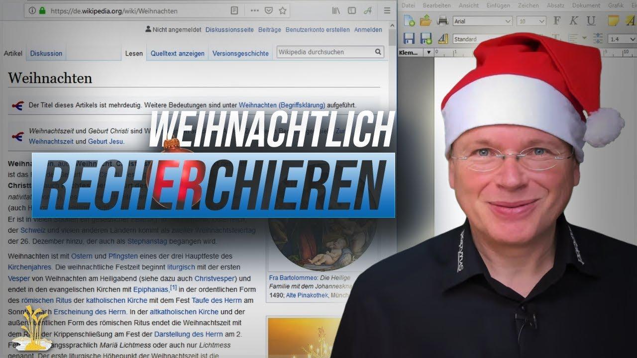 Eine Weihnachtsgeschichte recherchieren mit Papyrus Autor. Ho! Ho! Ho!