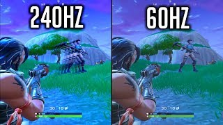 What it looks like to play in 240hz in FORTNITE [ReSample Test]