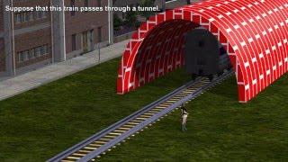 Einstein's Relativistic Train in a Tunnel Paradox: Special Relativity