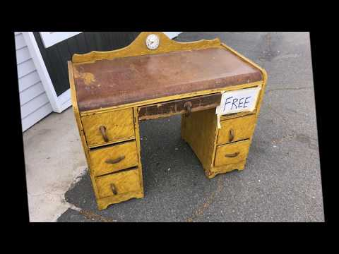 RESTORATION  - ANTIQUE ART DECO VANITY/DESK Mp3