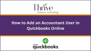 How to Add an Accountant User in Quickbooks Online