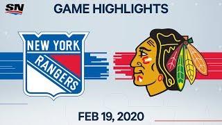 NHL Highlights   Rangers vs Blackhawks – Feb. 19, 2020