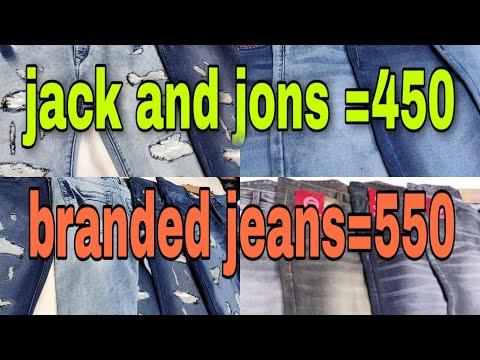 Jack & Jones @450 | Branded Jeans @550 | Tank Road jeans |