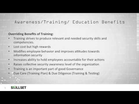 Security Training, Education, and Awareness (CISSP Free by ...