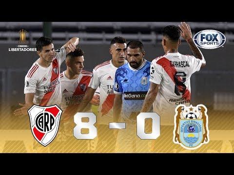 SENHORAS E SENHORES, OITO A ZERO! Veja os melhores  momentos de River Plate 8 x 0 Binacional