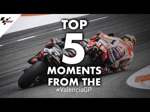 【MotoGP BEST 5 アクション動画】MotoGP バレンシアGP