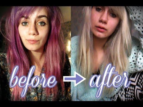 How to remove purple dye from hair? (with pictures, videos