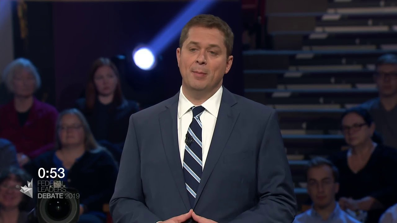 Andrew Scheer answers a question about First Nations consent for new pipelines