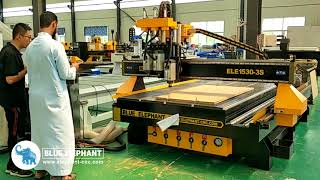 Blue Elephante Offer Two Days CNC Router Free Training for DSP control 1325 3S