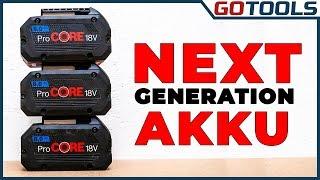 BOSCH Professional Akkus - Pro und CORE - Die Akku Generationen im Vergleich