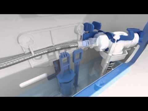 Обслуживание наливного клапана бачков Sigma