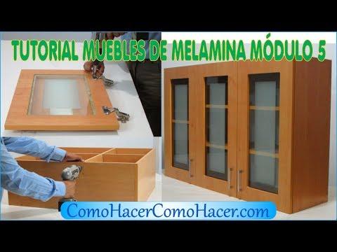 TUTORIAL MUEBLES DE MELAMINA MÓDULO 5