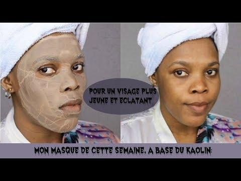 Le masque spiroulina pour la personne de vidéo