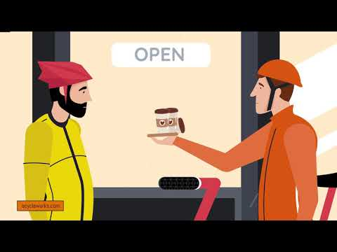 Coffee Shop Meet Explainer Video for eCYCLE Works