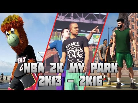 History of NBA 2K MyPark - (2K13-2K16)