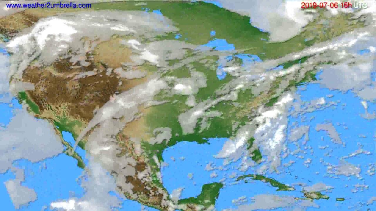 Cloud forecast USA & Canada // modelrun: 12h UTC 2019-07-03