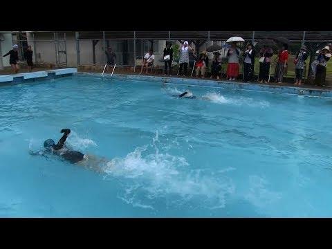 種子島の学校活動:安納小学校校内水泳大会2018年