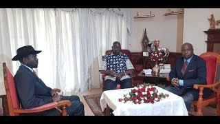 South Sudan's President Kiir Visits Retired President Moi at his Kabarak home