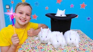 Vlad und Niki zeigen Zaubertricks und kreieren neue Spielzeuge