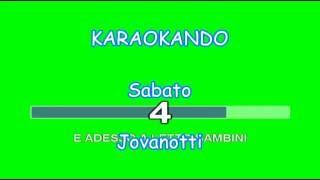 Karaoke Italiano  - Sabato - Lorenzo Jovanotti ( Testo )