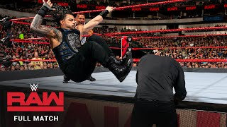 FULL MATCH - Roman Reigns vs. Baron Corbin – Universal Title Match: Raw, September 17, 2018
