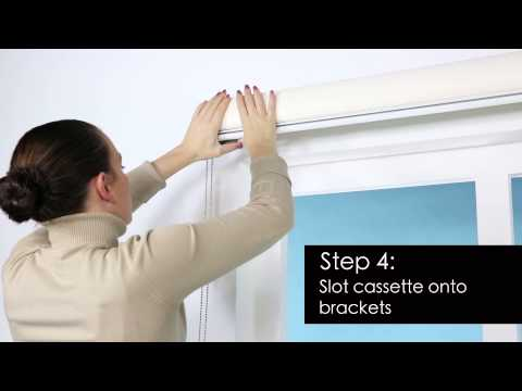 How to Install - Premium Roller Blind - Surface Fitting