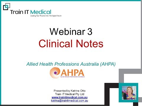 Video of Clinical note-taking for Allied Health Professionals