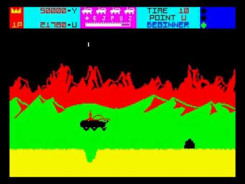 Moon Patrol Walkthrough, ZX Spectrum