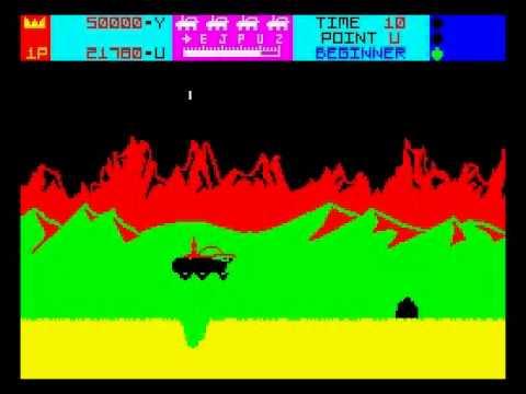 Moon Patrol Walkthrough, ZX Spectrum