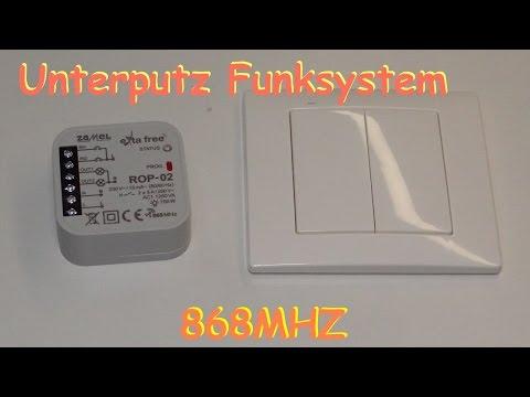 Unterputz Funksystem mit Aufputzschalter