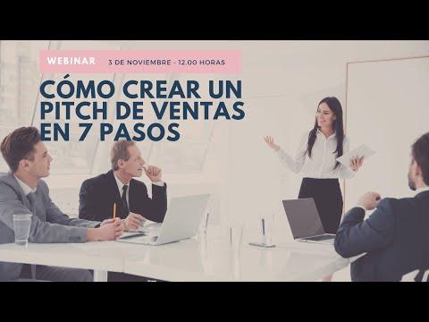 Webinar Cómo Crear un pitch de ventas en 7 pasos[;;;][;;;]