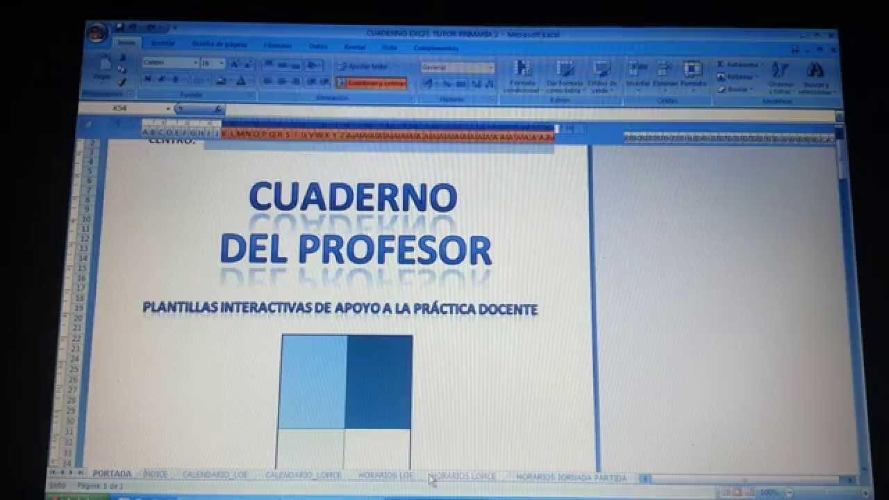 Cuaderno del profesor modo de empleo