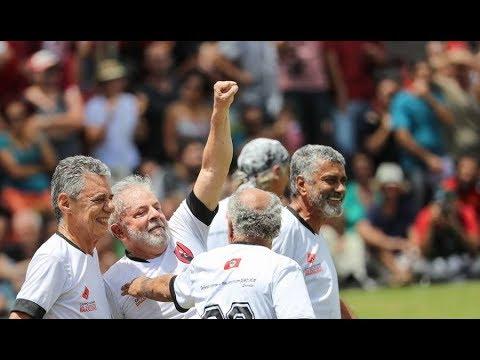 Lula e Chico Buarque Inauguram Campo de Futebol na Escola Nacional Florestan Fernandes
