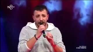 Ahmet Parlak İsyan O Ses Türkiye sahnesinde performansı Sözleriyle HD