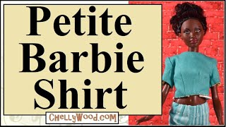 Free Doll Clothes Patterns: Petite Barbie Reversible Shirt