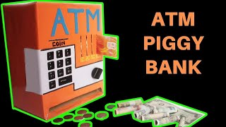 How to make an ATM PIGGY BANK at Home   Just5mins #2