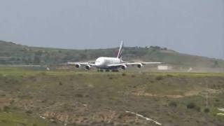 preview picture of video 'A380 First Landing At Athens Airport 13/04/2011'
