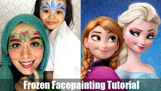 """Frozen """"Anna And Elsa"""" Face Painting Tutorial"""