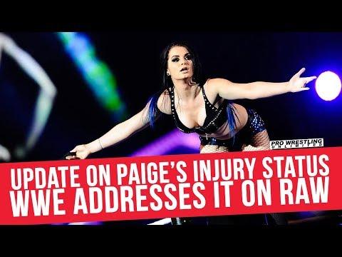 Update On Paige's Injury Status, WWE Addresses It On RAW