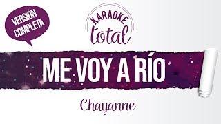 Me voy a Río - Chayanne - Karaoke cantado con letra