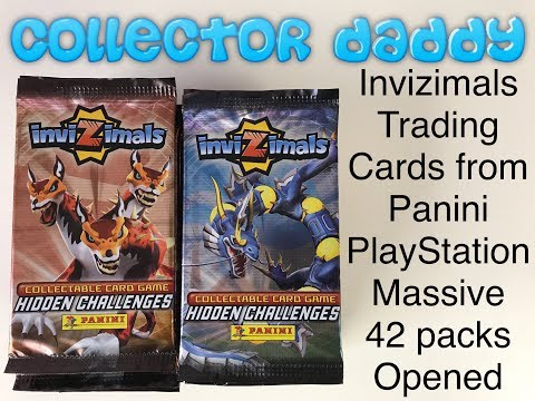 Invizimals Trading Cards From Panini/PlayStation A Massive 42 Packs Opened
