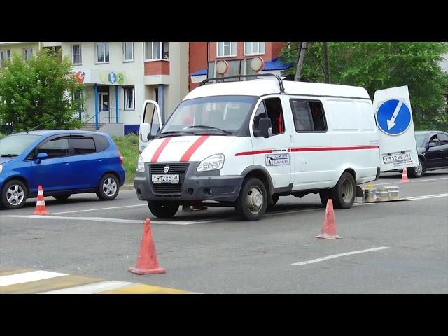 В Ангарске обновляют дорожную разметку