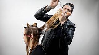 Long Layered Haircut Tutorial To Create Maximum Volume   MATT BECK VLOG Season 2 Episode 018