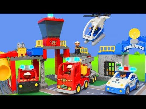 LEGO DUPLO Feuerwehrmann, Feuerwehrautos, Feuerwehr, Polizei & Construction Spielzeugautos Unboxing