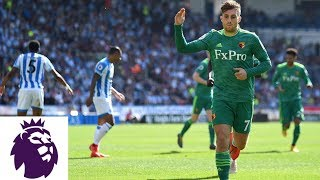 Deulofeu's precise shot makes it 1-0 for Watford v. Huddersfield | Premier League | NBC Sports
