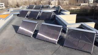 Солнечные коллектора на многоквартирном доме