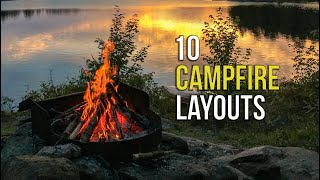10 Campfire Layouts To INSTANTLY Up Your Camping Skills!!