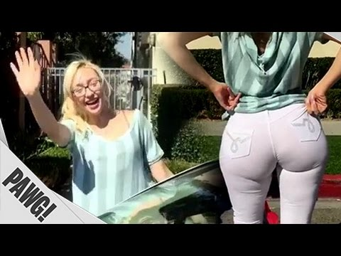 CRAZY Big Booty White Girl in Funny Skit ~ thenumerauna ~ PAWG/Whooty
